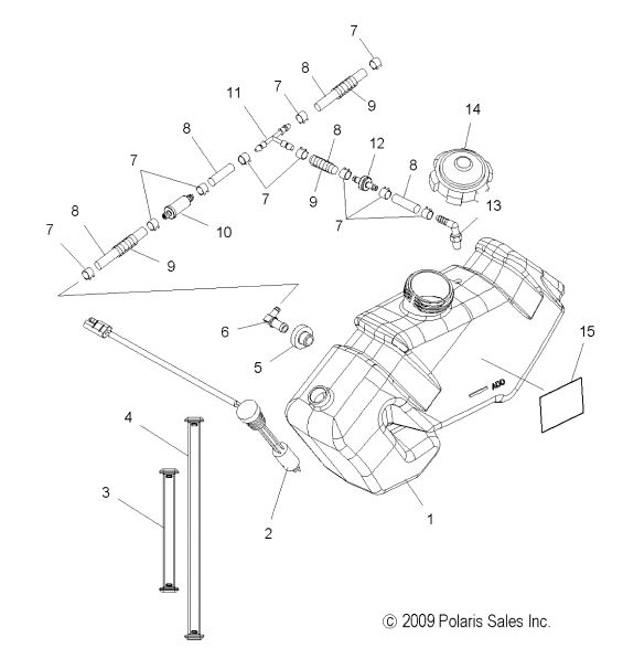 install polaris snowmobile tank diagram